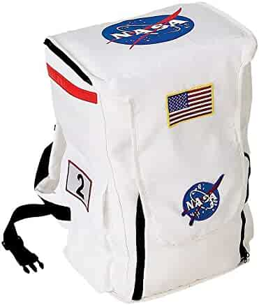 Aeromax Jr. Astronaut Backpack, Black, with NASA patches