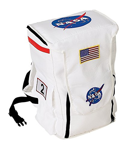 Nasa Costumes Adults (Aeromax Jr. Astronaut Backpack, White, with NASA patches)