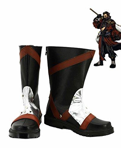 Final Fantasy 10 Ff10 Auron Cosplay Chaussures Bottes Faites Sur Commande