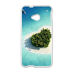 Heart Shaped Herzen Island Maldives HTC One M7 Cell Phone Case White phone component RT_167633