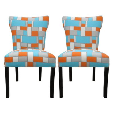 Sole Designs Hop Series Bella Collection Upholstered Modern Dining Chair (Set of 2), (Bella Dining Chair)
