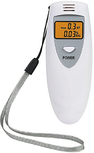 iMounTEK Digital Display Professional Breathalyzer, Portable Alcohol Tester, Prevent Drunk Driving - White