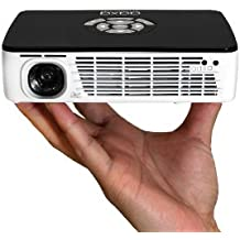 AAXA Technologies P300 Pico Projector with Rechargeable Battery - Native HD resolution with 500 LED Lumens, For Business, Home Theater, Travel and more