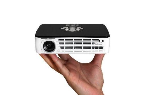 AAXA P300 Pico/Micro LED Projector with 60 Minute Battery Life, WXGA 1280x800 Resolution, 400 Lumens, HDMI, Mini-VGA, 20,000 Hour LED Life, Media Player