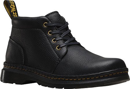 Dr. Martens Men's Lea Chukka Boot, black, 7 UK/8 M US (Dr Martens 4 Eye)
