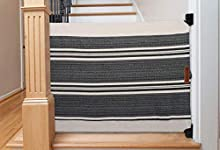 The Stair Barrier Baby and Pet Gate: Banister to Wall Baby Gate - Safety Gates for Kids or Dogs - Fabric Baby Gate for Stairs with Banisters - Made in The USA