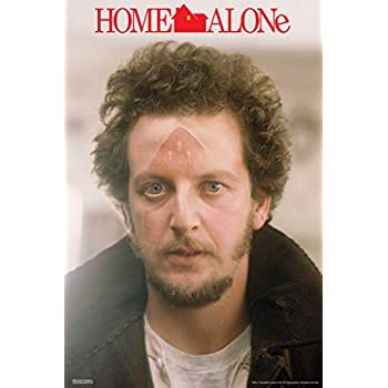 Pyramid America Home Alone Marv Iron Face Funny Christmas Movie Kevin McAllister Wet Bandits Holiday Film Cool Wall Decor Art Print Poster 12x18