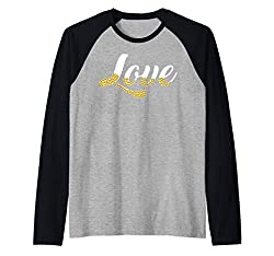 Love With Gold Sequin Design Pullover