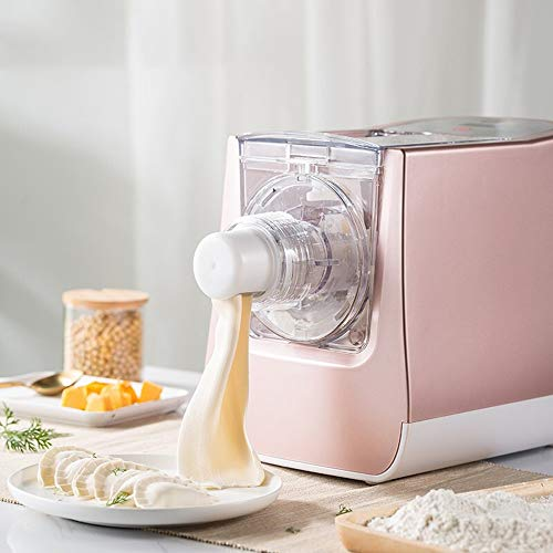 ROBDAE Pasta Maker Machine Home Intelligent Automatic Noodle Machine Vertical Outer Electric Noodle Pressing Machine Home Pasta Makers (Color : Pink, Size : 19x20x15.5CM)