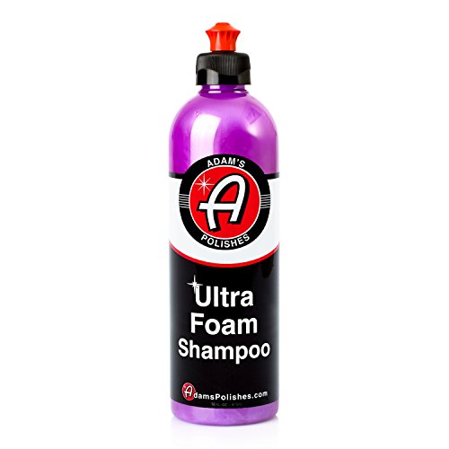 Adam's Ultra Foam Shampoo 16oz - Our Most Sudsy Car Shampoo Formula Ever - pH Neutral Formula For Safe, Spot Free Cleaning - Ultra Slick Formula That Wont Scratch or Leave Water Spots