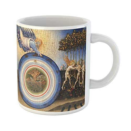 Semtomn Funny Coffee Mug Creation of the World and Expulsion From Paradise 11 Oz Ceramic Coffee Mugs Tea Cup Best Gift Or Souvenir -
