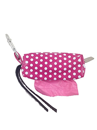Doggie Walk Bags Duffel Bags for Dogs, Citrus, Pink Dot, Pink