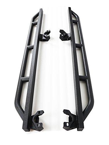 Textured Black Running Boards Side Step Rail Nerf Bar Rock Crawler Rock Slider Armor Bar Fit 2007-2018 Jeep Wrangler JK 4 Door