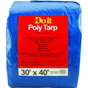 Med Duty Tarp (Do it Medium-Duty Blue Tarpaulin, 30X40 BLUE MED DUTY TARP)