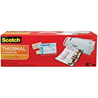 Scotch Thermal Laminator Combo Pack, Includes 2 Pouches