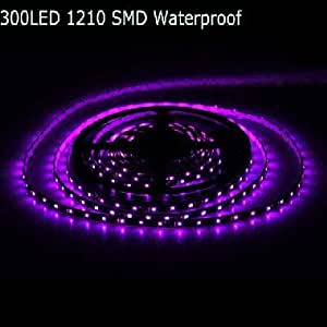 5m 300LED 1210 SMD Waterproof 12V Car Flexible Light Strip --- Color:Blue