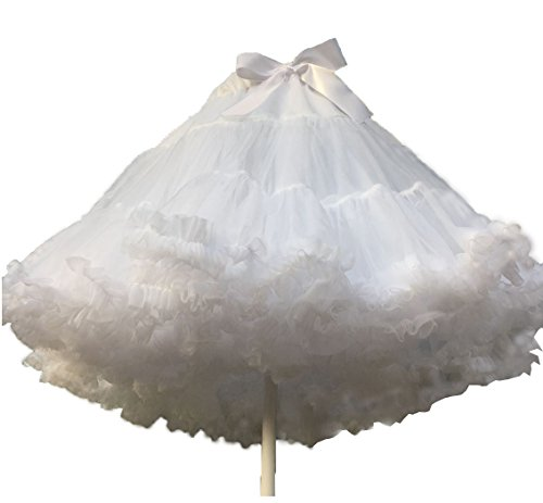 Princess Tutu Anime Costume (Nuoqi Lolita Princess Fancy Layered White Petticoat Organza Tutu Skirt Vintage Petticoat)