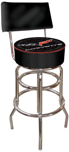- Chevrolet Corvette Padded Swivel Bar Stool with Back