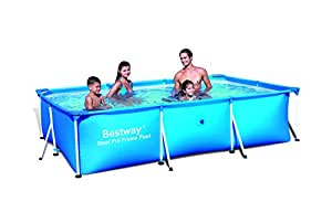 Bestway deluxe splash frame piscina tubular 300 x 201 x for Piscina tubular bestway