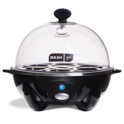 Dash Rapid Egg Cooker: 6 Egg Capacity Electric Egg Cooker for Hard Boiled Eggs, Poached Eggs, Scrambled Eggs, or Omelets with Auto Shut Off Feature - (Egg Timer 10 Minutes)