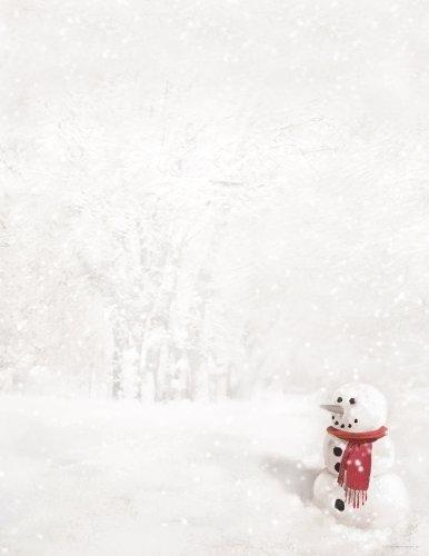 Hortense B. Hewitt 80-Pack Snowman in Red Scarf Decorative Paper by Hortense B. Hewitt