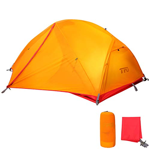 TFO Backpacking 2 Person Tent Ultralight PU5000mm Waterproof Rainfly & Floor with Footprint Easy Set up for 3 Season Outdoor Camping & Expedition