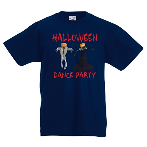 T Shirts for Kids Cool Outfits Halloween Dance Party Events Costume Ideas (14-15 Years Dark Blue Multi Color) -