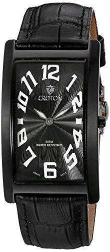 Croton Mens Quartz Watch - CROTON Men's CN307533BKBK ARISTOCRAT Analog Display Quartz Black Watch