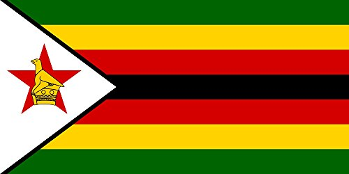 (SoCal Flags Zimbabwe Flag from 3x5 Foot Polyester African Banner - Sold by A Proud American Company - Durable 100d Material Not See Thru Like Other Brands Weather Resistant)