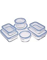 AmazonBasics - vershouddozen van glas voor levensmiddelen, met deksel