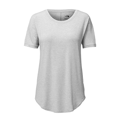 (The North Face Women's Workout Short Sleeve Tee TNF Light Grey Heather Large)