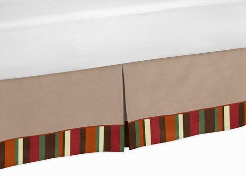 Sweet Jojo Designs Queen Kids Childrens Bed Skirt for Monkey Bedding -