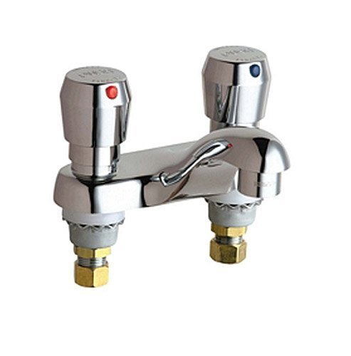 Chicago Faucets 802-V665ABCP 4-Inch Centerset Lavatory Metering Faucet, Chrome by Chicago Faucets