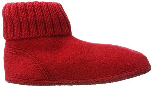 Hüttenschuh Karl, Hi-Top Slippers Mixte Adulte - Rouge - Rot (Rubin)Haflinger