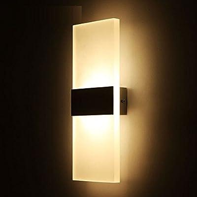 E-lighting wallsconcelighting, 16w Modern LED wall Sconces Light Lamp Decorative Light Fixture for Bedroom, Living Room, Balcony, Corridor, White & Warm White Selectable