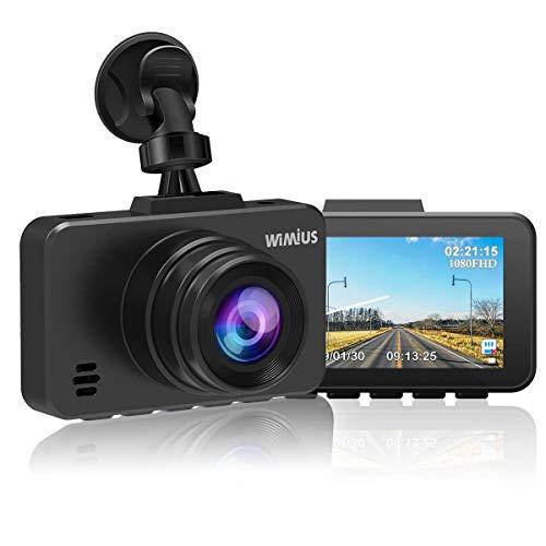 Dual Dash Cam - WiMiUS Dash Camera 1080P DVR Dashboard Recorder Full FHD Car Camera 170 Wide Angle with Sony Sensor & WDR Infrared Night Vision, G-Sensor (D10 Dash Cam) ()