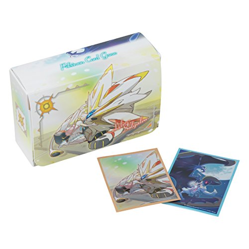 Pokemon Solgaleo Lunala Character Card Game Sleeves 64pc Deck Box Divider Case Holder Anime Sun Moon by Anime1stop