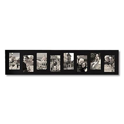 Amazon.com - Adeco 8 Openings Decorative Black Wood Offset Wall ...