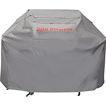 BBQ Coverpro Waterproof Heavy Duty Barbecue Grill Cover (64x24x46) (L) Gray For Weber, Holland, Jenn Air, Brinkmann and Char Broil & More.