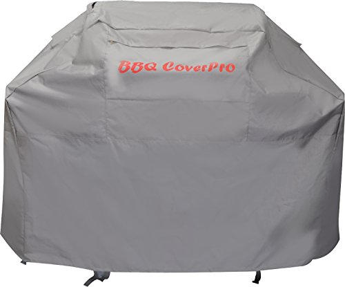 BBQ Coverpro Waterproof Heavy Duty Barbeque Grill Cover (58x24x46) (M) Gray for Weber, Holland, Jenn Air, Brinkmann and Char Broil & More.