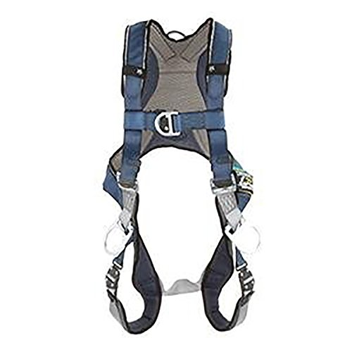 3M DBI-SALA ExoFit 1108601 Vest Style Harness, Front, Back and Side D-Rings, Loops For Belt, Quick-Connect Buckles, Medium, Blue/Gray by 3M Fall Protection Business (Image #2)