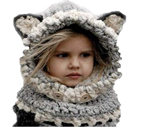 Jennifer + June Baby and Toddler Crochet Hats - Wolf Hat (5T/6T to Pre-Teen) -