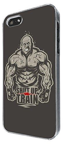 775 - Gym Workout Shut Up Train Design iphone 4 4S Coque Fashion Trend Case Coque Protection Cover plastique et métal