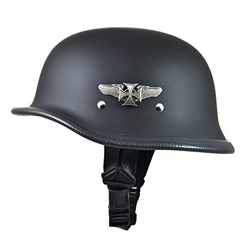 Daytona Big German Novelty Motorcycle Helmet w/Road Wings (Large)