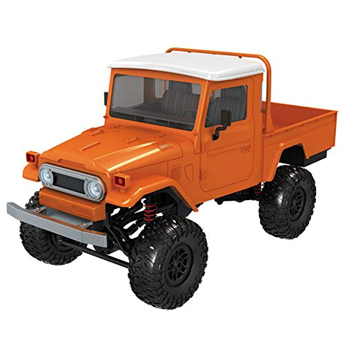 2019 Hot Childrens Day Front LED Light 1:12 4WD RC Car Off-Road Military Rock Crawler Truck Buggy Toys Kids Gift (Orange) by Aurorax Electric (Image #2)