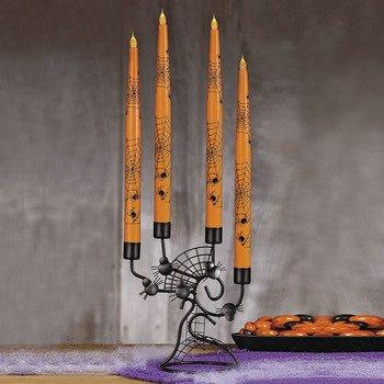 [Halloween Flickering Taper Lights] (Halloween Candles)