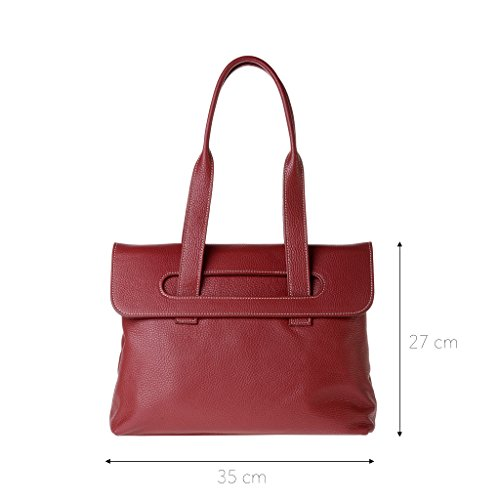 Leather Dudu For Unique Red Bag Women Taille Red Shoulder Bqd8rqwtxC
