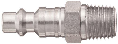 Dixon DCP21S Stainless Steel 303 Air Chief Industrial Interchange Quick-Connect Hose Fitting, Plug, 1/4'' Coupling x 1/4'' NPT Male by Dixon Valve & Coupling (Image #1)