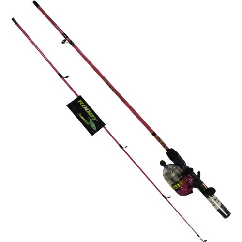Roddy Hunter (Master Fishing Tackle Roddy Hunter LED Lites 5 1/2' 2pc Spincast Combo, Pink)