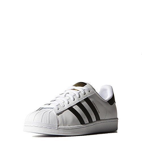 adidas Originals S81858 : Men's Superstar Sneaker White/Black/Metallic Gold (10.5 D(M) US)